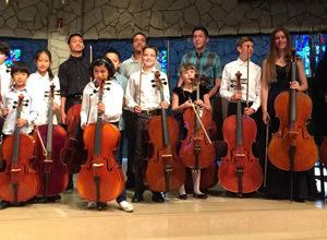 Rudolph Stein's cello class